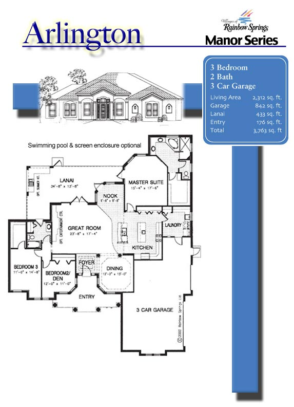 The arlington floor plans and new home photos of model for Floor plans villages florida