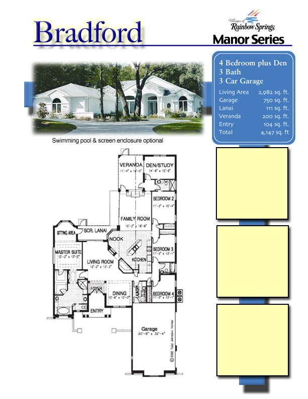 The bradford floor plans and new home photos of model for Floor plans villages florida