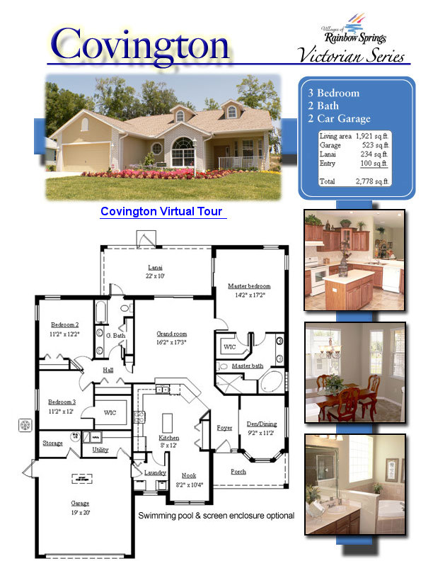 The Covington Floor Plans And New Home Photos Of Model