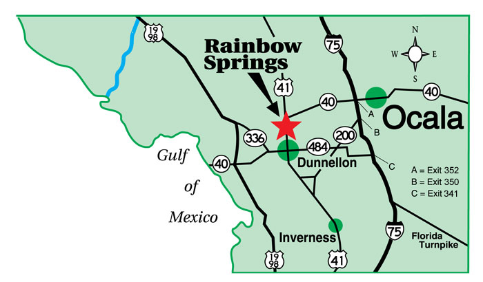 Springs In Florida Map.Map And Directions To The Villages Of Rainbow Springs In Dunnellon